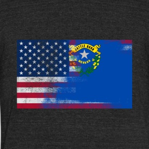 Nevada American Flag Fusion - Unisex Tri-Blend T-Shirt by American Apparel