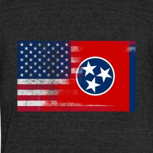 Tennessee American Flag Fusion - Unisex Tri-Blend T-Shirt by American Apparel