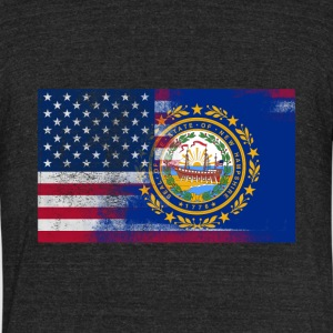 New Hampshire American Flag - Unisex Tri-Blend T-Shirt by American Apparel