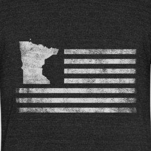 Minnesota State United States Flag Vintage USA - Unisex Tri-Blend T-Shirt by American Apparel