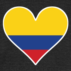 Colombian Flag Heart - Unisex Tri-Blend T-Shirt by American Apparel