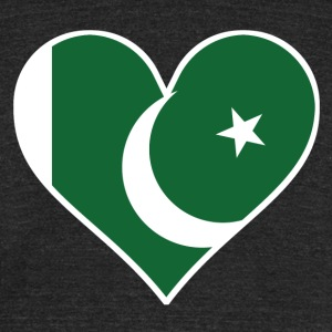 Pakistani Flag Heart - Unisex Tri-Blend T-Shirt by American Apparel