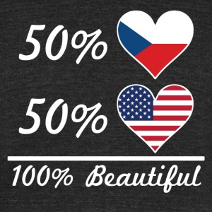 50% Czech 50% American 100% Beautiful - Unisex Tri-Blend T-Shirt by American Apparel