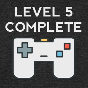 Level 5 Complete 5th Birthday - Unisex Tri-Blend T-Shirt by American Apparel
