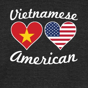 Vietnamese American Flag Hearts - Unisex Tri-Blend T-Shirt by American Apparel