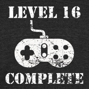 Level 16 Complete 16th Birthday - Unisex Tri-Blend T-Shirt by American Apparel