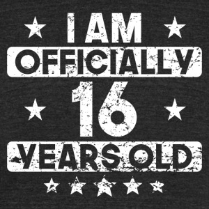 I Am Officially 16 Years Old 16th Birthday - Unisex Tri-Blend T-Shirt by American Apparel