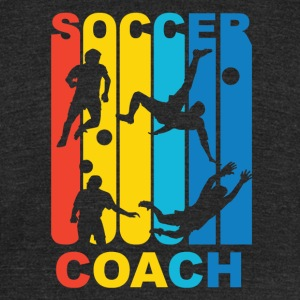 Vintage Soccer Coach Graphic - Unisex Tri-Blend T-Shirt by American Apparel