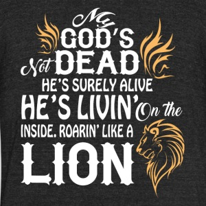 Roaring Like A Lion T Shirt - Unisex Tri-Blend T-Shirt by American Apparel