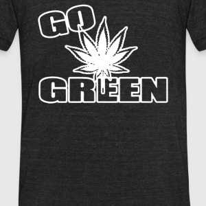 Go Green - Unisex Tri-Blend T-Shirt by American Apparel