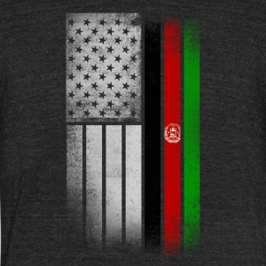 Afghan American Flag - Unisex Tri-Blend T-Shirt by American Apparel