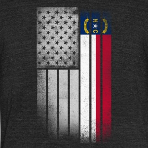 USA Vintage North Carolina State Flag - Unisex Tri-Blend T-Shirt by American Apparel