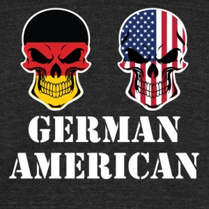 German American Flag Skulls - Unisex Tri-Blend T-Shirt by American Apparel