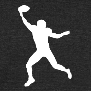 Football Wide Receiver Silhouette - Unisex Tri-Blend T-Shirt by American Apparel