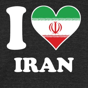 I Love Iran Iranian Flag Heart - Unisex Tri-Blend T-Shirt by American Apparel
