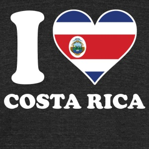 I Love Costa Rica Costa Rican Flag Heart - Unisex Tri-Blend T-Shirt by American Apparel