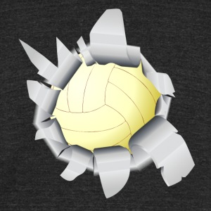 Volleyball Hole - Unisex Tri-Blend T-Shirt by American Apparel