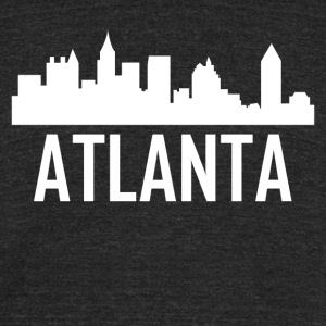 Atlanta Georgia City Skyline - Unisex Tri-Blend T-Shirt by American Apparel