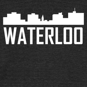 Water Iowa City Skyline - Unisex Tri-Blend T-Shirt by American Apparel