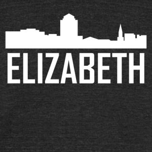 Elizabeth New Jersey City Skyline - Unisex Tri-Blend T-Shirt by American Apparel