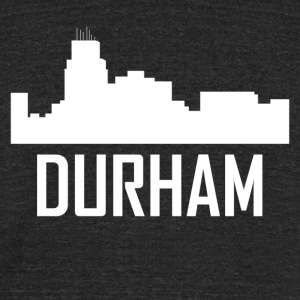 Durham North Carolina City Skyline - Unisex Tri-Blend T-Shirt by American Apparel