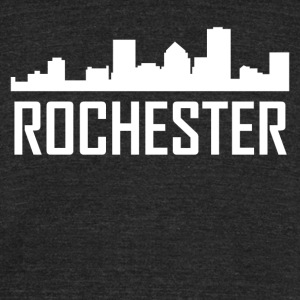 Rochester New York City Skyline - Unisex Tri-Blend T-Shirt by American Apparel