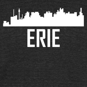 Erie Pennsylvania City Skyline - Unisex Tri-Blend T-Shirt by American Apparel