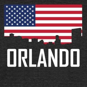 Orlando Florida Skyline American Flag - Unisex Tri-Blend T-Shirt by American Apparel