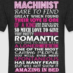 Machinist Rare To Find Romantic Amazing To Bed - Unisex Tri-Blend T-Shirt by American Apparel
