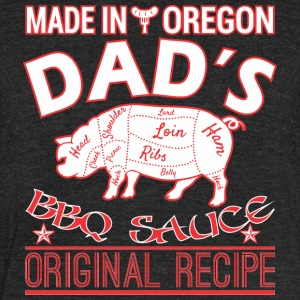 Made In Oregon Dads BBQ Sauce Original Recipe - Unisex Tri-Blend T-Shirt by American Apparel