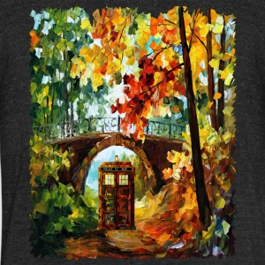 Abandoned Phone Booth Under the Bridge - Unisex Tri-Blend T-Shirt by American Apparel