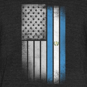 Guatemalan American Flag - Unisex Tri-Blend T-Shirt by American Apparel