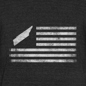 Tennessee State United States Flag Vintage - Unisex Tri-Blend T-Shirt by American Apparel