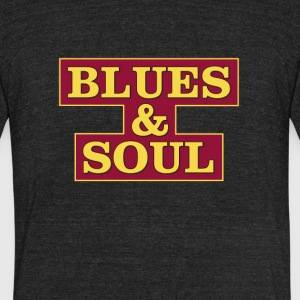 Blues & Soul - Unisex Tri-Blend T-Shirt by American Apparel