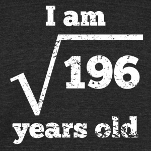 14th Birthday Square Root - Unisex Tri-Blend T-Shirt by American Apparel