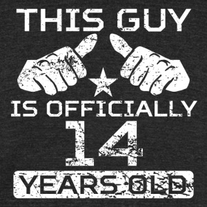 This Guy Is Officially 14 Years Old - Unisex Tri-Blend T-Shirt by American Apparel