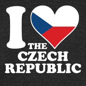 I Love the Czech Republic Czech Flag Heart - Unisex Tri-Blend T-Shirt by American Apparel