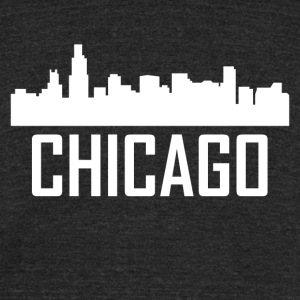 Chicago Illinois City Skyline - Unisex Tri-Blend T-Shirt by American Apparel
