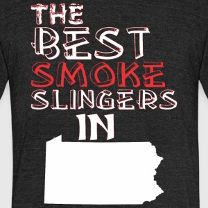 The Best Smoke Slingers In Pennsylvania Barbecue - Unisex Tri-Blend T-Shirt by American Apparel