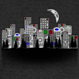 Remote City - Unisex Tri-Blend T-Shirt by American Apparel