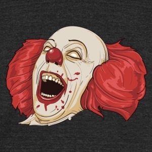 Evil Clown - Unisex Tri-Blend T-Shirt by American Apparel