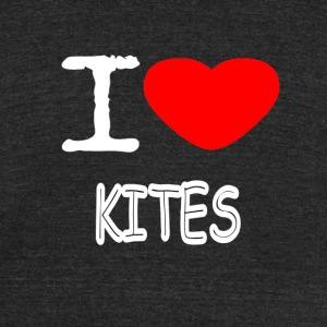 I LOVE KITES - Unisex Tri-Blend T-Shirt by American Apparel
