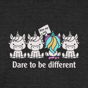 Dare to be Different Unicorn - Unisex Tri-Blend T-Shirt by American Apparel