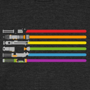 rainbow Color - Unisex Tri-Blend T-Shirt by American Apparel