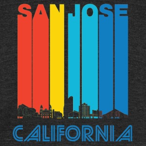 Retro San Jose California Skyline - Unisex Tri-Blend T-Shirt by American Apparel