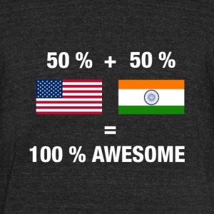 Half Indian Half American 100% India - Unisex Tri-Blend T-Shirt by American Apparel