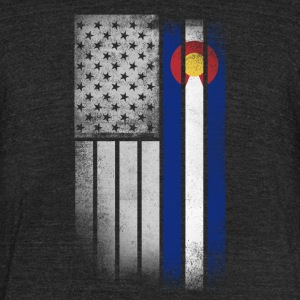 USA Vintage Colorado State Flag - Unisex Tri-Blend T-Shirt by American Apparel
