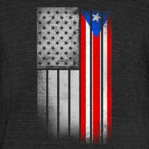 USA Vintage Puerto Rico State Flag - Unisex Tri-Blend T-Shirt by American Apparel