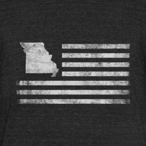 Missouri State United States Flag Vintage USA - Unisex Tri-Blend T-Shirt by American Apparel