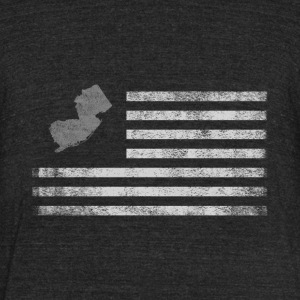 New Jersey State United States Flag Vintage USA - Unisex Tri-Blend T-Shirt by American Apparel